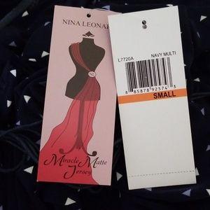 Nina Leonard Dresses - NWT multi print midi